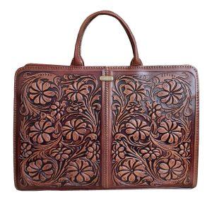 کیف دستی چرم زنانه طرح گل کد ۲۰۷۰۸۰